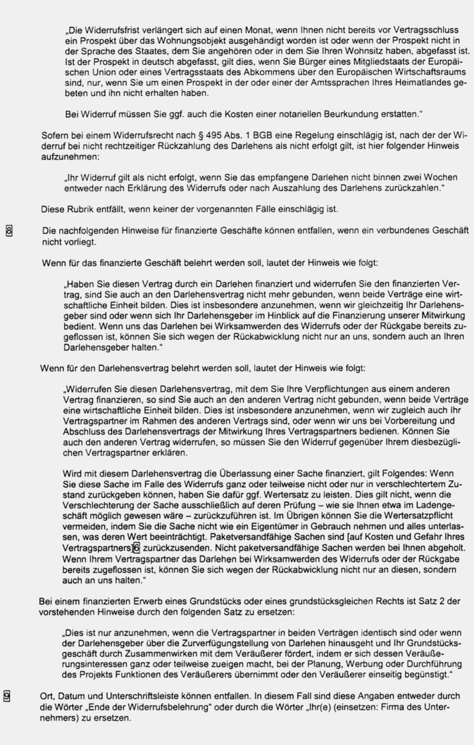 Neufassung Der Bgb Informationspflichten Verordnung Zvi 2002 341